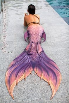 Mermaid tail design by FinFolk Siren Mermaid, Mermaid Tale, Pink Mermaid Tail, Tattoo Mermaid, Real Mermaids, Mermaids And Mermen, Mermaids Exist, Fantasy Mermaids, Mermaid Under The Sea