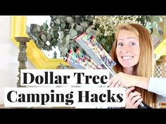 Camping hacks all for under $1! The best camping hacks that help me have a much more comfortable camping trip! All supplies can be found at the dollar store