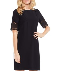 d85fbe859925 VINCE CAMUTO Lace Inset Shift Dress Vince Camuto - Bloomingdale s