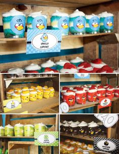 Creative Angry Birds Birthday Party Cumpleaños Angry Birds, Festa Angry Birds, Bird Birthday Parties, 4th Birthday, Birthday Ideas, Jello With Cool Whip, Thomas Birthday, Cupcake In A Cup, Edible Creations