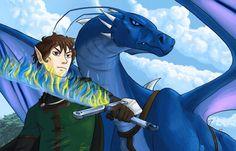 Eragon and Saphira, ready for battle