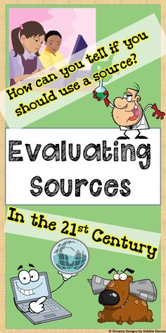When writing research papers, it is SO important that students know how to find trustworthy resources. Instead of giving them a fish, teach them to fish--show students the criteria they can use to evaluate the sources they find.  2-3 day lesson covers guidelines for internet sources as well as primary and secondary sources. Includes video clips! Check it out:   https://www.teacherspayteachers.com/Product/Evaluating-Resources-Internet-Website-Research-Primary-Secondary-Sources-6-7-8-9-1639597
