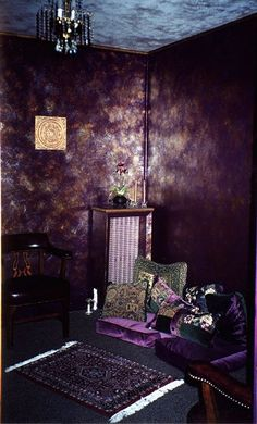 Boho purple room.