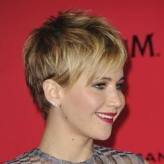 Jennifer Lawrence pixie cut - super cute
