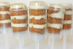 Carrot cake push pops