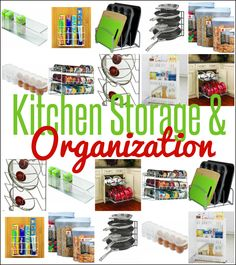 Organize your kitchen cabinets, pantry, and fridge with these awesome kitchen storage and organization tools! | #Ad