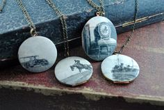 1920s Newspaper Lockets (vintage)