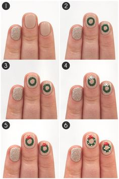 Looking for some fancy holiday manicure ideas to dress up your nails? We have some collections of nail arts, the DIY Converse Nail Art Design Ideas; Butterfly Nail Art Ideas and more. Diy Christmas Nail Art, Christmas Gel Nails, Xmas Nail Art, Holiday Nails, Diy Acrylic Nails, Glitter Gel Nails, Diy Nails, Manicure Ideas, Converse Nails
