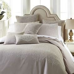 Lace Dove Embroidered Duvet Cover & Sham | Pier 1 Imports