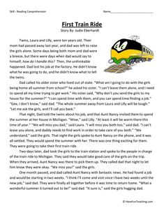 This Reading Comprehension Worksheet - First Train Ride is for teaching reading comprehension. Use this reading comprehension story to teach reading comprehension. Reading Comprehension Worksheets, Reading Fluency, Reading Passages, Reading Skills, Teaching Reading, Guided Reading, Comprehension Exercises, Vocabulary Activities, Reading Activities