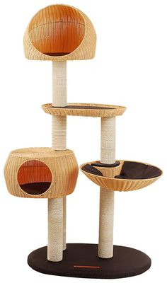 Outdoor Cat Tree & Cat House Weatherproof Cat Trees and Cat Houses for the Katzenbedarf Outdoor Cat Tree, Cat Lover, Wicker, Pets, Cat Trees, Cat Houses, Mary, Patio, Cat Behavior