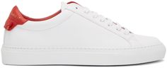 GIVENCHY White & Red Urban Knots Sneakers. #givenchy #shoes #sneakers