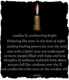 Wicca Spells | Healing - candles lit and burning bright, ... | Wiccan spells & chants