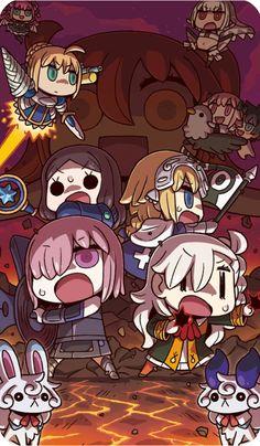 Wtf is going on! All Anime, Anime Chibi, Manga Anime, Anime Art, Fate Zero, Elizabeth Bathory, Fate Stay Night Anime, Fate Servants, Chibi Characters