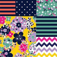 Girl Charlee fabric - vintage revival