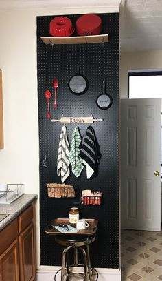She hangs pegboard in her kitchen, but when she paints it? We need this