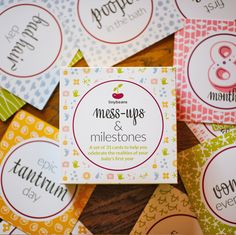 Mess-Ups + Milestone Cards Shower gift