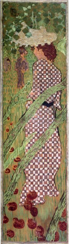 Woman in a Checked Dress, 1892-1898 Pierre Bonnard