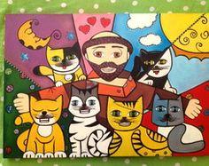 Tela São Francisco e os gatinhos