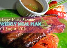Here's our weekly dose of meal plan to help you in drafting your grocery lists, the happy pinay weekly meal plan for the week of August 01 2015 Weekly Menu Planning, Meal Planning, Meals For The Week, Beef, How To Plan, Pinoy, Recipes, Happy, Food