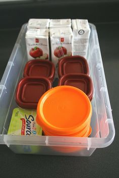 packing school lunches.