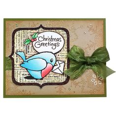 Robin Greetings Rubber Stamp