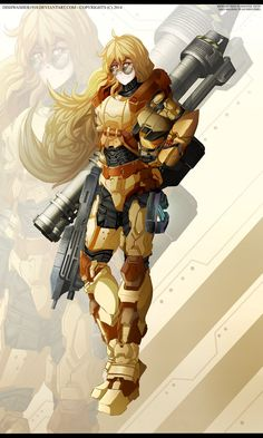 RWBY- Yang Xiao Long - SPARTAN armour by dishwasher1910 on DeviantArt