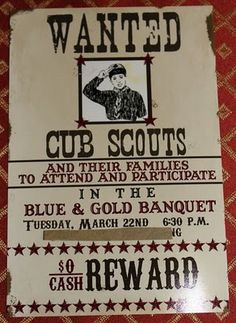 More Than the Mulberries: western Cub Scout Blue and Gold Dinner