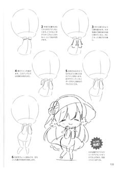 How to draw chibis-133 Drawing Reference Poses, Drawing Poses, Drawing Sketches, My Drawings, Cartoon Drawings, Chibi Tutorial, Manga Tutorial, Chibi Sketch, Anime Sketch