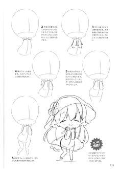 How to draw chibis-133 Chibi Tutorial, Manga Tutorial, Anime Drawing Books, Anime Drawings Sketches, Chibi Sketch, Chibi Drawing, Chibi Body, Manga Drawing Tutorials, Character Design Tutorial