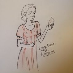 Emma Bloom, Miss Peregrine's Home for Peculiar Children. (By Briannah Ralls)