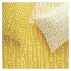 TRENE YELLOW Yellow patterned single duvet cover set