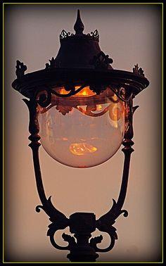 Lamp light Taken outside Cheltenham railway station early morning UK Antique Lamps, Vintage Lamps, Vintage Lighting, Cool Lighting, Lantern Lamp, Candle Lamp, Art Nouveau, Night Light, Light Up