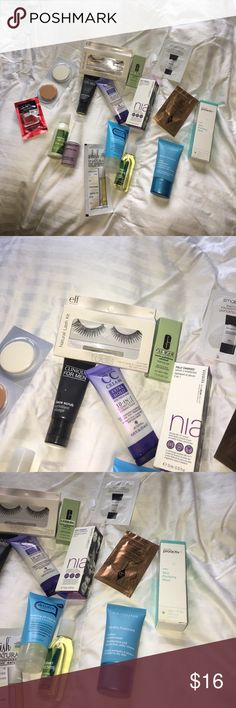 💎💄Amazing makeup sampler💎💄 Brands like caviar, Charlotte tilbury, proactiv, elf, bath and body works, okay, smashbox, Clarins, skinfix, and living proof. Everything brand new! Sephora Makeup