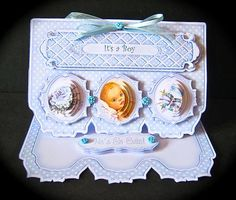 Card Gallery - New Baby Boy Triple Cameo Pyramage