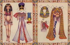 Lady From Egypt Paper Doll - by Loraine Morris Historical Art, Historical Costume, Historical Clothing, Ancient Egyptian Clothing, Ancient Egypt Crafts, Paper Doll Costume, Christmas Embroidery Patterns, Costumes Around The World, Night At The Museum
