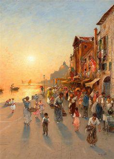 Vilhelm von Gegerfelt von Gegerfelt - Evening view of Venice