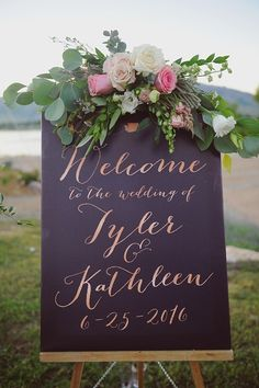 Rose Gold Wedding Welcome Sign, Wedding Reception Sign, Rose Gold Wedding Sign, Navy wedding sign - The Kathleen by Miss Design Berry Wedding Reception Entrance, Wedding Signage, Wedding Reception Decorations, Rustic Wedding, Trendy Wedding, Wedding Ideas, Wedding Receptions, Reception Food, Wedding Ceremony