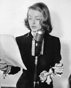 Bette Davis performing a radio version of All This and Heaven, Too, 1941