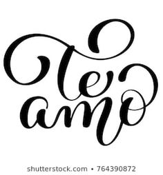 Te amo love you spanish text calligraphy vector lettering for valentine card. paint brush illustration, romantic quote for design greeting cards, tattoo, Lettering Brush, Parfum Chanel, Love Husband Quotes, Love Phrases, Lettering Tutorial, Spanish Quotes, Love Notes, Romantic Quotes, Design Quotes