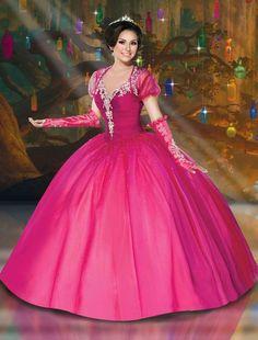 12 Disney-Inspired Dresses for the Quinceañera of Your Dreams- Cosmopolitan.com Dressy Dresses, 15 Dresses, Bridal Dresses, Bridesmaid Dresses, Dress 15, Gown Dress, Dress Prom, Disney Inspired Dresses, Pretty Quinceanera Dresses