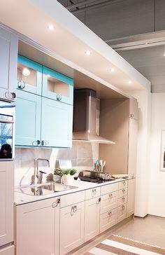 Keittiössä voi olla väriä @asuntomessublogit Kitchen Cabinets, Home Decor, Decoration Home, Room Decor, Cabinets, Home Interior Design, Dressers, Home Decoration, Kitchen Cupboards