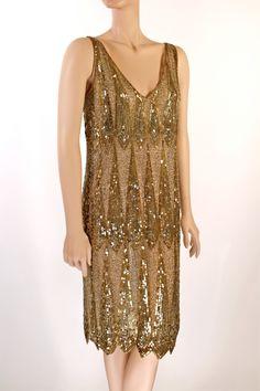 1920's Teardrop Deco Diamond Dress