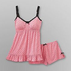 Joe Boxer- -Women's Babydoll Pajamas - Polka Dots have these and a couple more from joe,,love them Cute Pajamas, Flannel Pajamas, Pyjamas, Satin Pyjama Set, Pajama Set, Pijamas Women, Jolie Lingerie, Trendy Swimwear, Lingerie Collection