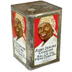 How cool an old aunt Jemima tin can! For cooking with corn oil.