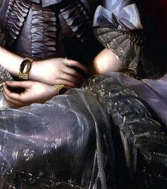 """Queen Charlotte"" (1776) (detail) by Benjamin West (1738-1820)."