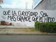 Que la curiosidad sea mas grande que el miedo. Accion Poetica.