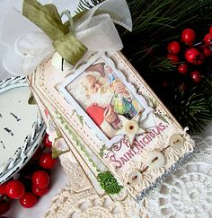 tag book ~ created with lots of Vintage images & papers