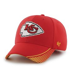 742b6f94eed69 Kansas City Chiefs Warhawk MVP Torch Red 47 Brand Adjustable Hat