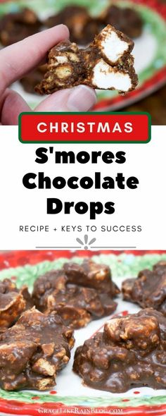 S'mores Chocolate Drops are a classic chocolate treat that reminds me of a Little Debbie Marshmallow Supreme. Do you remember those sweet chocolate goodies with pillowy marshmallow on top of a graham cracker layer? They've been discontinued by Little Debbie but we're bringing back our own version! | Christmas Candy Recipes | Christmas Chocolates | Smores Fudgies | Smores Fudge Drops | #Chocolate #Smores #Recipes #Christmas #candy Easy Christmas Candy Recipes, Christmas Candy Gifts, Chocolate Treats, Melting Chocolate, Rainbow Fruit Trays, Christmas Chocolates, Drops Recipe, Candy Board, Key Food